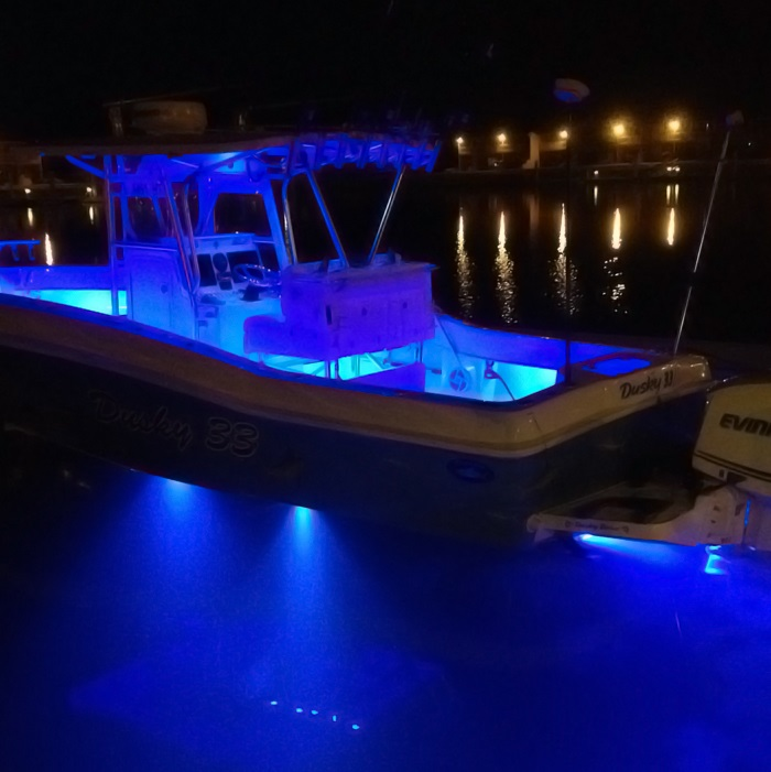 een led lamp voor de camper of boot