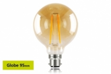 E27 LED 95 mm Globe 2,5W (40W) Filament Gloeilamp